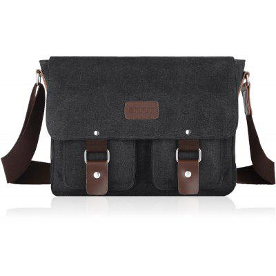 Flap Canvas Distressed Messenger Bag