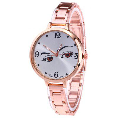 YBOTTI Alloy Quartz Watch with Pretty Glance