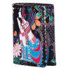 Tribal Print Whipstitch Wallet - SCHWARZ