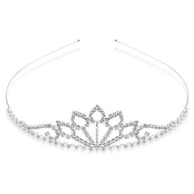 Graceful Rhinestone Water Drop Crown For Women