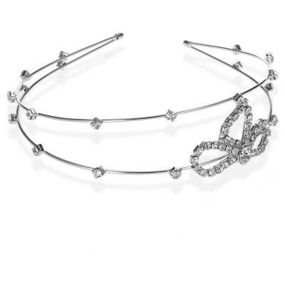 Graceful Rhinestone Bowknot Hairband For Women