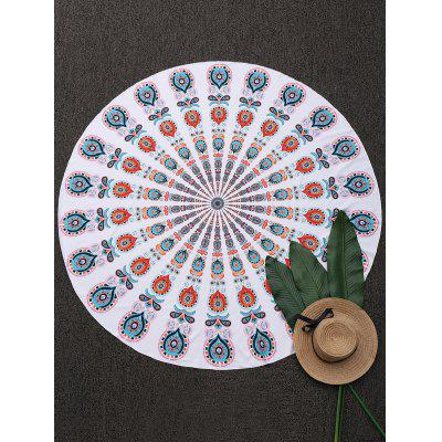 Tribe Printed Round Beach Throw Cover