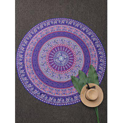 Print Round Beach Throw Cover