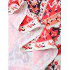 Colorful Print Round Beach Throw Cover - COLORMIX