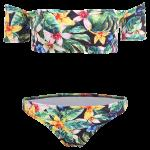 Floral Print Off The Shoulder Bikini deal
