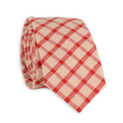 Checked Plain Neck Tie