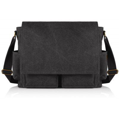 Side Pockets Flap Messenger Bag