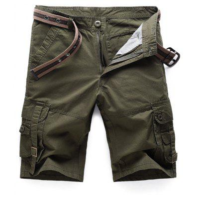 Buy Metal Buckle Design Pockets Cargo Shorts, ARMY GREEN, 29, Apparel, Men's Clothing, Men's Shorts for $30.91 in GearBest store
