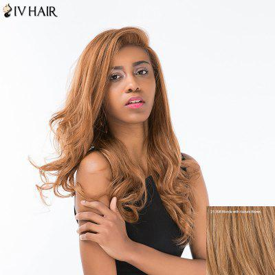 Buy BLONDE WITH AUBURN BROWN Siv Hair Long Shaggy Wavy Side Part Lace Front Human Hair Wig for $131.11 in GearBest store