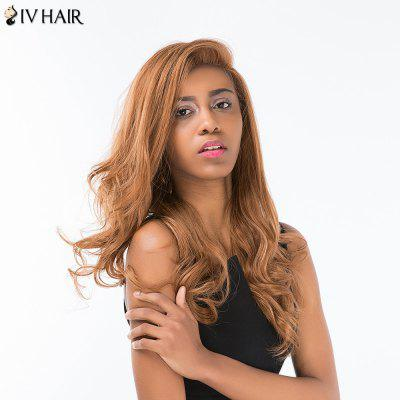 Buy AUBURN BROWN #30 Siv Hair Long Shaggy Wavy Side Part Lace Front Human Hair Wig for $131.11 in GearBest store