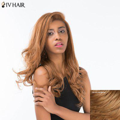 Buy DARK ASH BLONDE Siv Hair Long Shaggy Wavy Side Part Lace Front Human Hair Wig for $131.11 in GearBest store