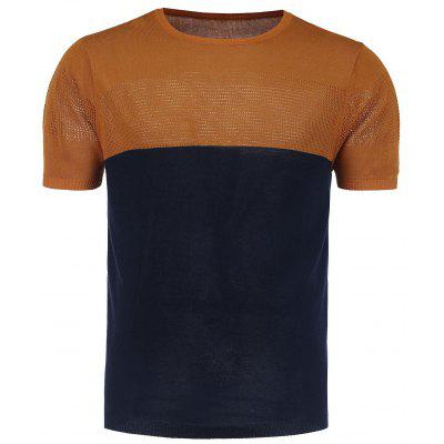 Color Block Crew Neck Jumper