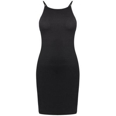 Buy BLACK Criss Cross Cami Sheath Mini Bandage Dress for $21.38 in GearBest store