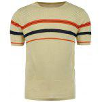 Star Striped Jumper - APRICOT