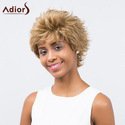 Buy COLORMIX Adiors Inclined Bang Short Layered Curly Synthetic Wig for $17.69 in GearBest store
