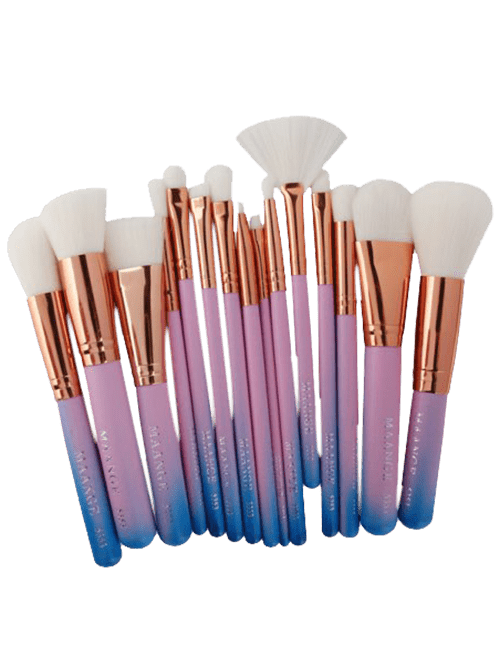 15 Pcs Mermaid Makeup Brushes Set