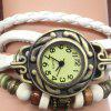 Heart Wings Number Vintage Bracelet Watch - BROWN