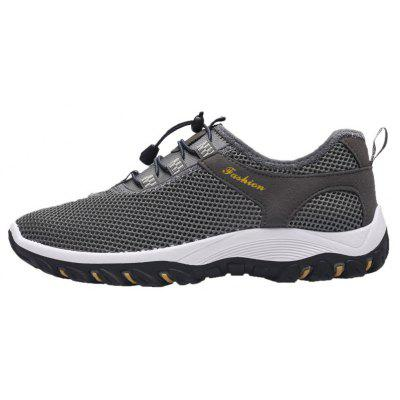 Buy GRAY 40 Breathable Letter Embellished Athletic Shoes for $30.29 in GearBest store