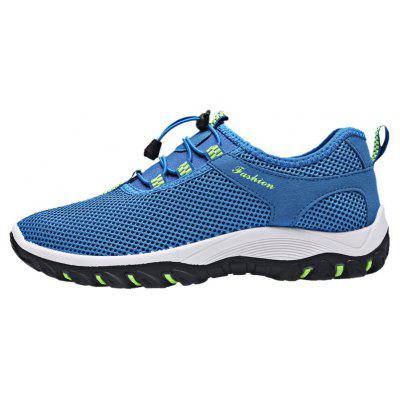 Buy LIGHT BLUE 43 Breathable Letter Embellished Athletic Shoes for $24.11 in GearBest store