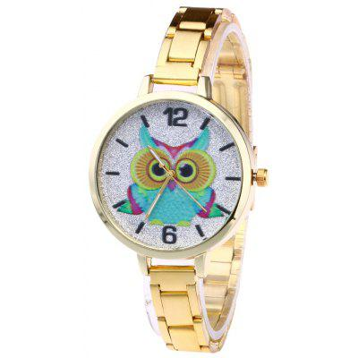 Buy GOLDEN Alloy Strap Owl Analog Glitter Watch for $7.60 in GearBest store