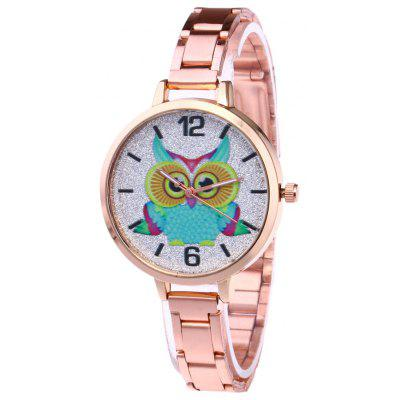 Buy ROSE GOLD Alloy Strap Owl Analog Glitter Watch for $7.60 in GearBest store