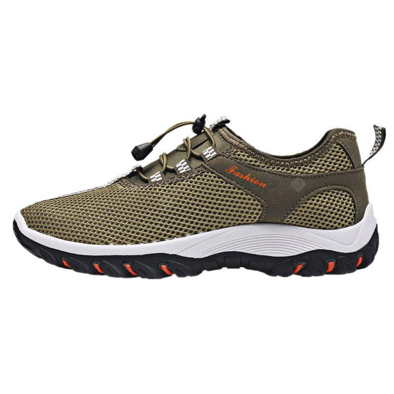ARMY GREEN 40 Breathable Letter Embellished Athletic Shoes