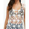 Backless Crochet Lace Floral Tunic Cover Up - WHITE