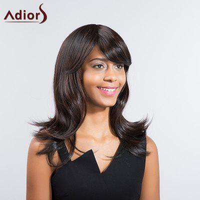 Buy COLORMIX Adiors Long Slightly Curly Side Bang Tail Upwards Synthetic Wig for $22.57 in GearBest store