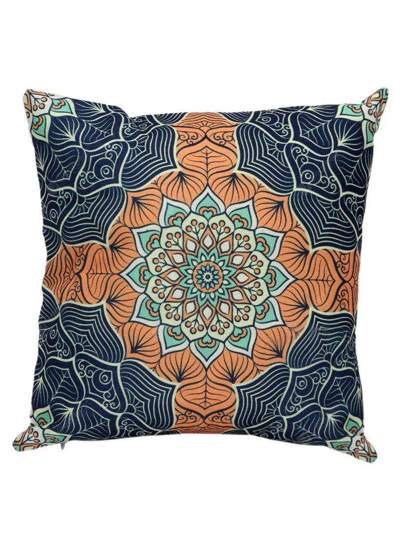 Ethnic Printed Linen Throw Pillow Case Cover