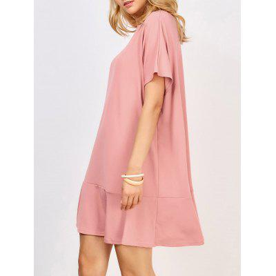 Ruffle Hem Dolman Dress
