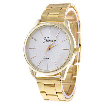 Buy GOLDEN Quartz Watch with Steel Band for $7.37 in GearBest store