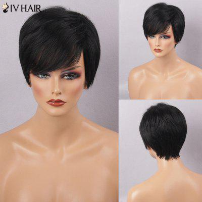 Siv Hair Short Straight Side Bang Natural Human Hair Wig