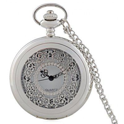 Hollow Out Engraved Vintage Pocket Watch
