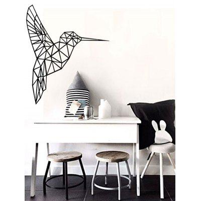 Buy BLACK Geometry Bird Removable Decorative Sticker For Wall for $6.61 in GearBest store