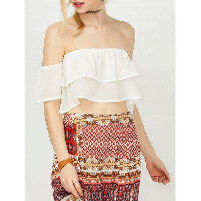 Off The Shoulder Chiffon Crop Top