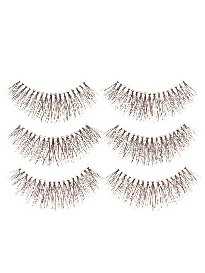 3 Pairs Artificial Eyelashes with Glue