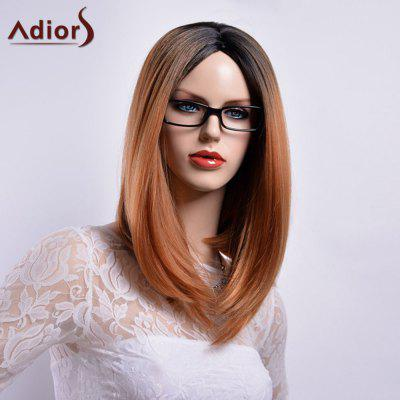 Buy COLORMIX Adiors Long Straight Middle Part Gradient Dark Root Bob Synthetic Wig for $18.26 in GearBest store