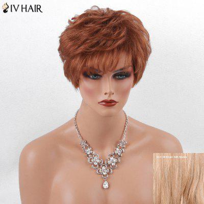 Siv Hair Short Layered Side Bang Fluffy Human Hair Wig