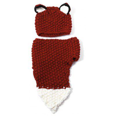 Fox Ear Knitted Hat and Scarf