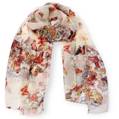 Chic Various Butterflies Pattern Chiffon Scarf For Girls