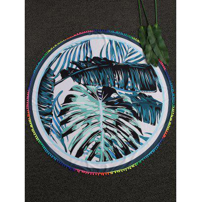 Palm Leaf Round Beach Throw