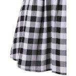 best Single Breasted Check Plaid Dress