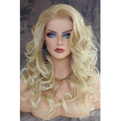 Buy LIGHT GOLD Shaggy Curly Long Capless Charming Blonde Heat Resistant Synthetic Wig For Women for $19.67 in GearBest store