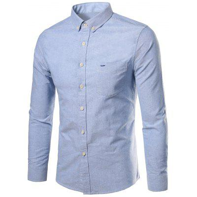 Button Down Long Sleeves Pocket Shirt
