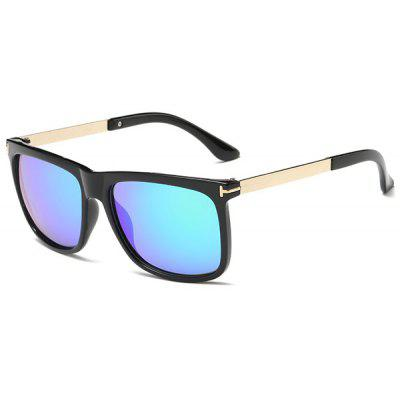 Rectangle Frame Sunproof Polarized Ombre Sunglasses