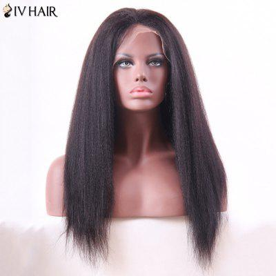 Siv Hair Long Yaki Straight Lace Front Human Hair Wig
