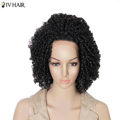 Siv Hair Medium Kinky Curly Dyeable Lace Front Human Hair Wig