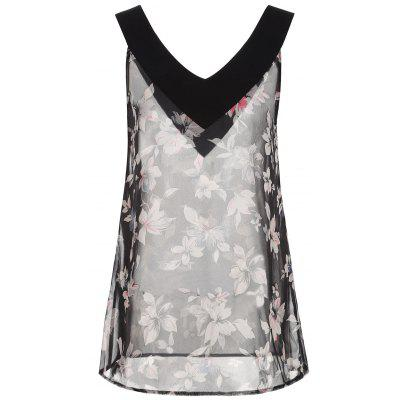 Sleeveless Floral Plus Size Top