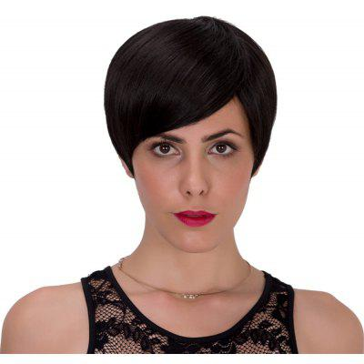 Adiors Spiffy Short Oblique Bang Straight Bob Synthetic Wig