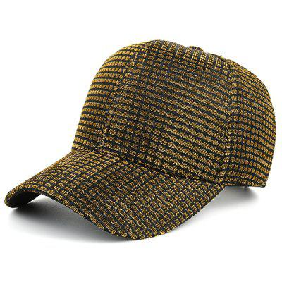 Tiny Plaid Cannetille Fabric Baseball Cap